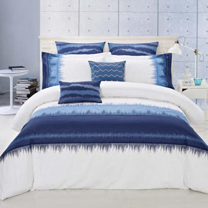 INDIGO - 7 PIECE DUVET COVER SET  INDIGO