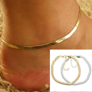 Simple Gold or Silver Color Anklet