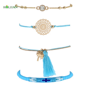 Tassel Palm Tree Bracelet Set