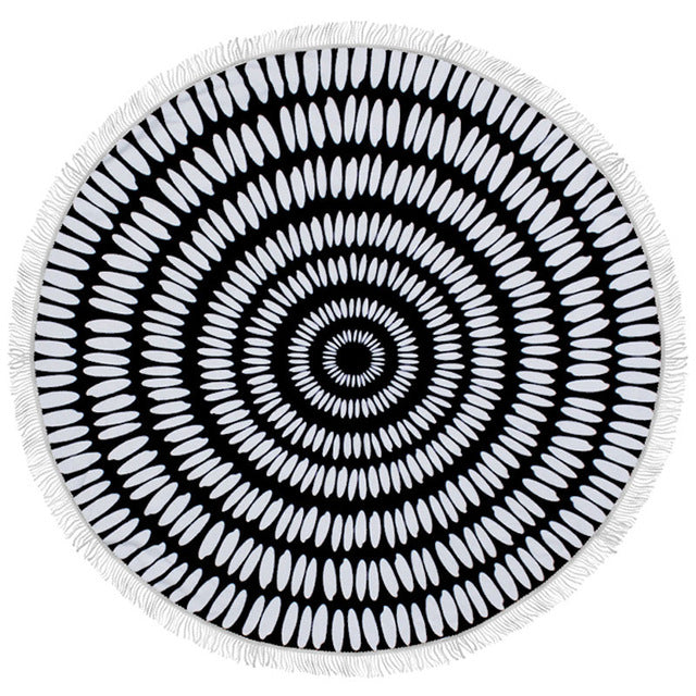 Indian Feather Round Beach Towel