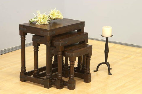Mamta Decoration Solid Sheesham Wood Leg Stool set - Mamtadecoration