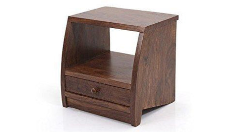 Mamta Decoration Sheesham Wood Teak Finish Bed Side/End Table