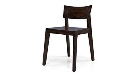 Mamta Decoration Solid Sheesham Wood Chair| Black Oak Finish - Mamtadecoration