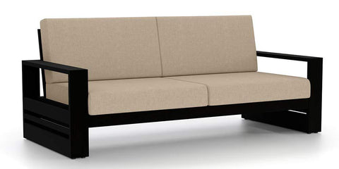 Mamta Decoration Solid Sheesham wood 3 Seater Sofa in Black Finish