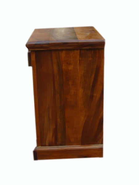 Mamta Decoration Sheesham Wood Bedside Table for Bedroom with 1 Drawer and 1 Cabinet Storage (Teak Finish)