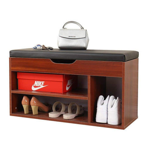 Mamta Decoration Solid Sheesham Wood Storage Bench Storage Hall Shoe Rack Bench Rack Shoes Rack (Black)