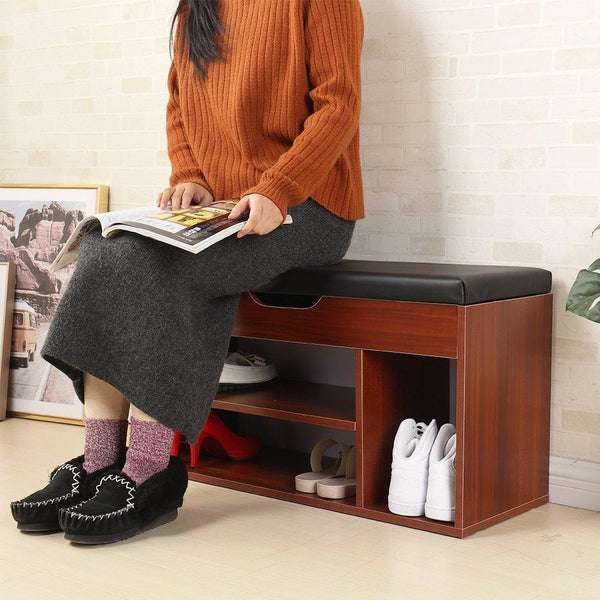 Mamta Decoration Solid Sheesham Wood Storage Bench Storage Hall Shoe Rack Bench Rack Shoes Rack (Black) - Mamtadecoration