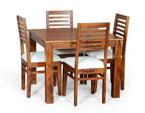 Mamta Decoration Solid Sheesham Wood Dining Table Set (Teak Finish) - Mamtadecoration