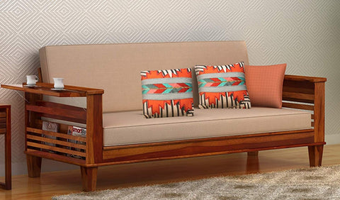 MAMTA DECORATION SOLID SHEESHAM WOOD sofa Cum Bed (Teak Wood) - Mamtadecoration