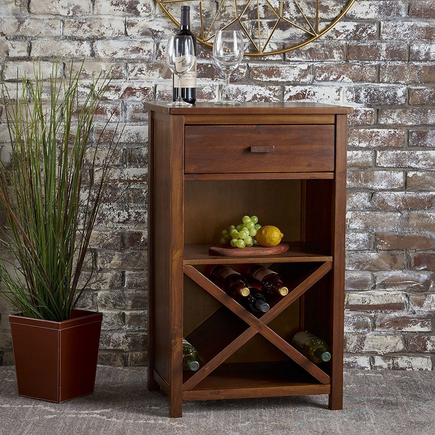 Mamta Decoration Solid Sheesham Wood Bar Cabinet