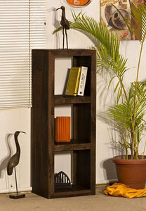 Mamta Decoration Solid Sheesham Wood Cube 3 Hole BOOK SHELF