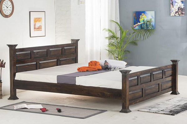 Mamta Decoration Solid Sheesham Wood Double Bed