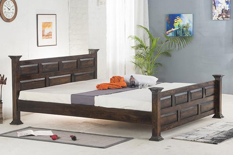 Mamta Decoration Solid Sheesham Wood Double Bed - Mamtadecoration