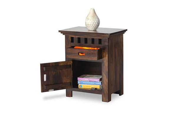 Mamta Decoration Sheesham Wood Bedside Table for Bedroom