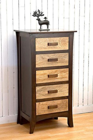 Mamta Decoration Sheesham Wood  Y Contrast Drawer Chest - Mamtadecoration