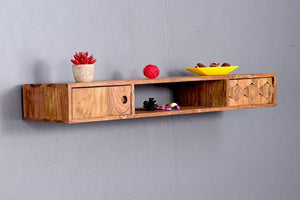 Mamta Decoration Sheesham Wood Wall Stand with Drawer