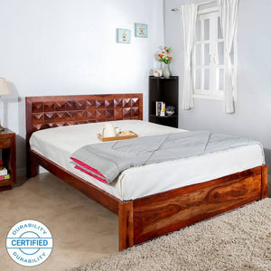 Mamta Decoration Solid Sheesham Wood King Bed  (Finish Color - Brown)