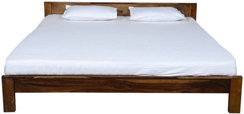 Mamta Decoration Solid Sheesham Wood Queen Bed  (Finish Color - Walnut) - Mamtadecoration