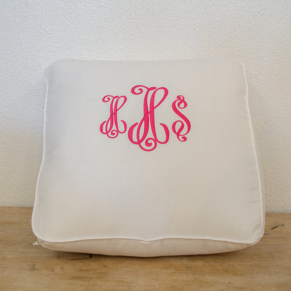 Wedge Pillow (Includes Monogram)
