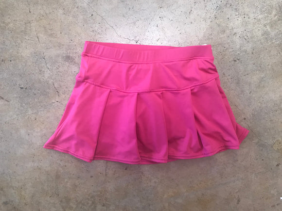 Hot Pink Pleated Tennis Skirt