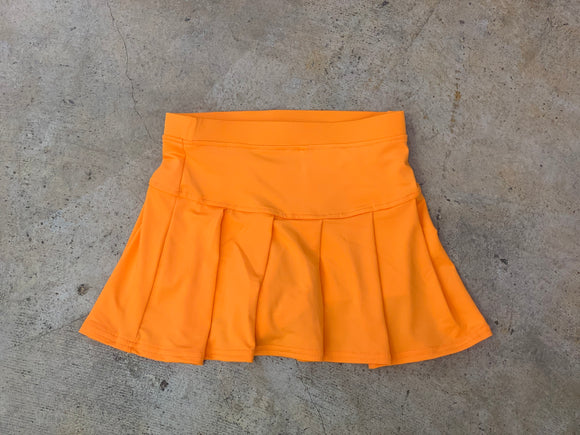 Orange Tennis Skirt