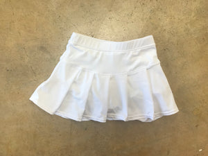 White Youth Pleated Tennis Skirt