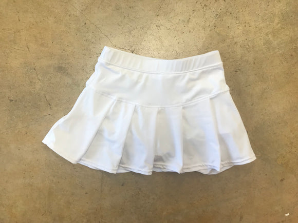 White Youth Tennis Skirt