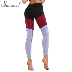 Simenual 2018 Hot sale leggings for women sportswear athleisure slim sexy fitness legging patchwork elastic sporting jeggings