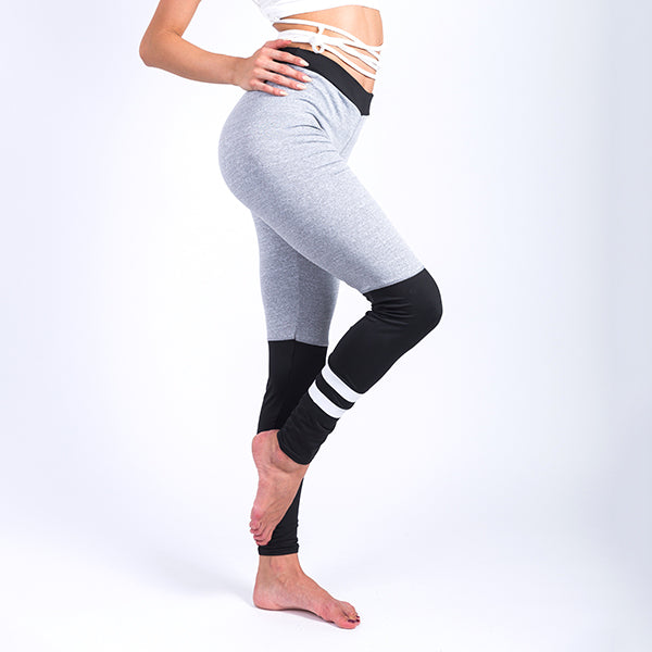 New Sexy Gray Stitching Woman Fitness Leggings Slim Trousers Pants Casual Patchwork Splice Elastic Workout Athleisure Leggings