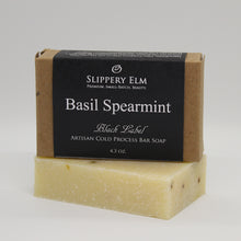 Load image into Gallery viewer, Basil Spearmint Cold Process Bar Soap (4.3 oz.)