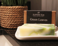 Load image into Gallery viewer, Green Leaves Cold Process Bar Soap (4.3 oz.)