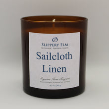 Load image into Gallery viewer, Sailcloth Linen Soy Candle (8.5 oz.)