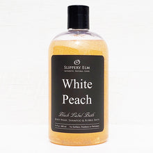 Load image into Gallery viewer, White Peach Shower Gel, Shampoo & Bubble Bath (16oz.)