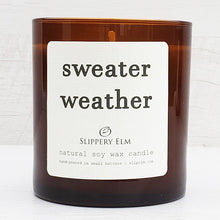 Load image into Gallery viewer, Sweater Weather Scented Soy Candle (8.5 oz.)
