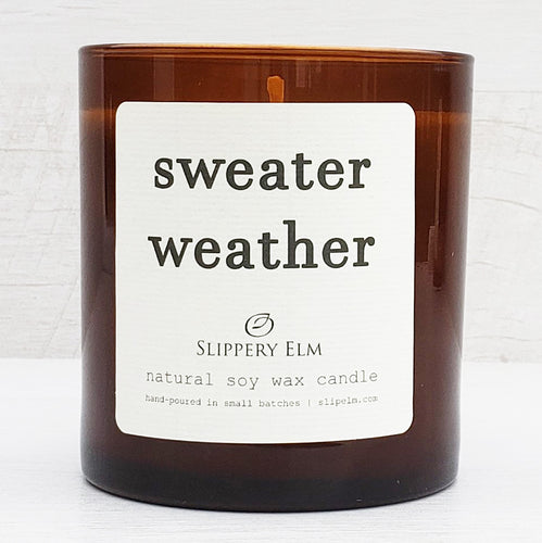 Sweater Weather Scented Soy Candle (8.75 oz.)