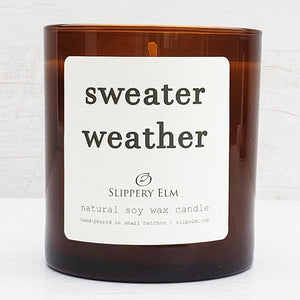 Sweater Weather Scented Soy Candle (8.5 oz.)