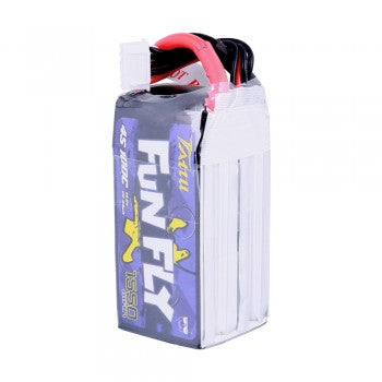 Tattu FunFly 1550mAh 100C 14.8V 4S1P lipo battery pack with XT60 Plug for Practice