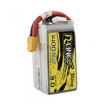 NEW Tattu R-Line Version 3.0 1400mAh 22.2V 120C 6S1P Lipo Battery Pack with XT60 Plug