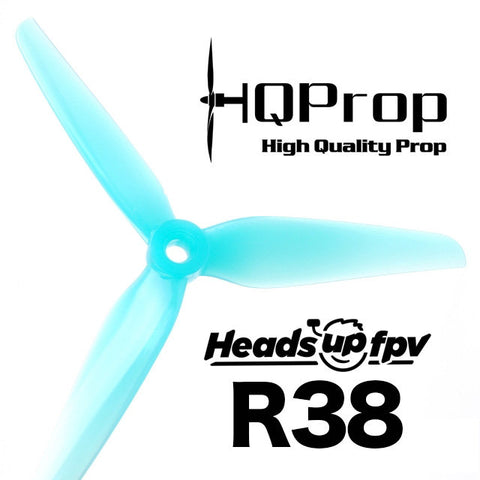 HeadsUp Racing Prop R38 Blue (2CW+2CCW)-Poly Carbonate