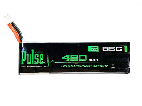 PULSE 450mAh 1S 4.35V 85C HV LiPo Battery with PH2 connector