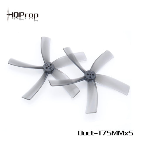 HQProp Duct-T75MMX5 for Cinewhoop Grey (2CW+2CCW)-Poly Carbonate