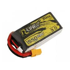 Tattu R-Line Version 3.0 1550mAh 14.8V 120C 4S1P Lipo Battery Pack with XT60 Plug