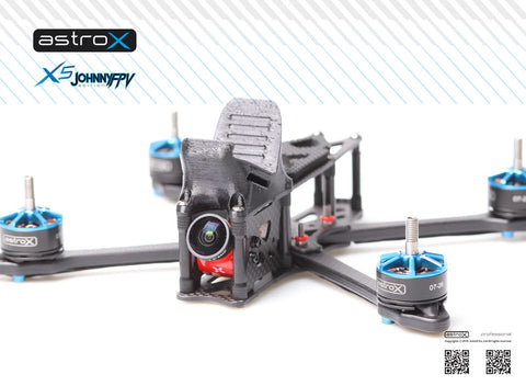 AstroX X5 JohnnyFPV edition with impression 3d action camera