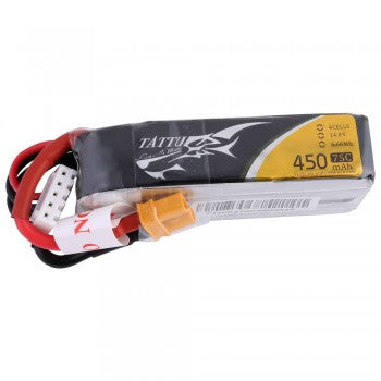 Tattu 14.8V 75C 4S 450mah Lipo Battery Pack with XT30 Plug- Long Size for H Frame