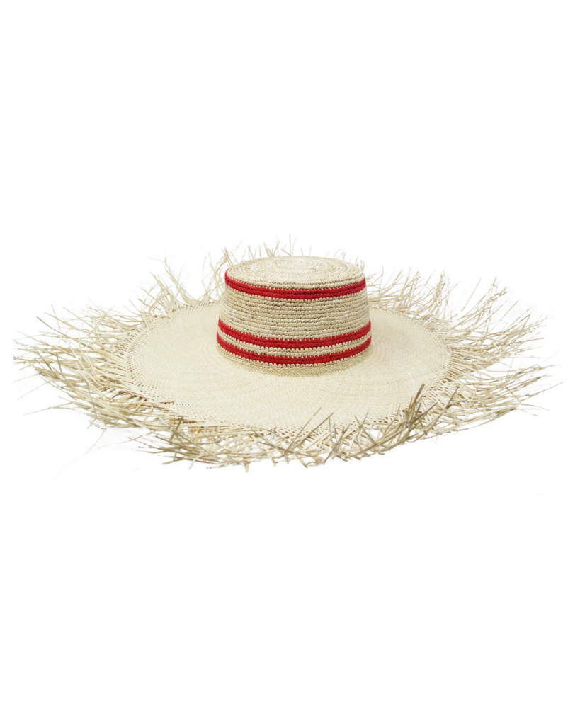 Lady Red Stripes Hat