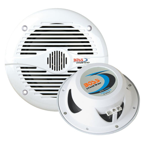 "Boss Audio MR50W 5.25"" Round Marine Speakers - (Pair) White"