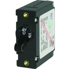 Blue Sea 7224 AC - DC Single Pole Magnetic World Circuit Breaker  -  40 Amp