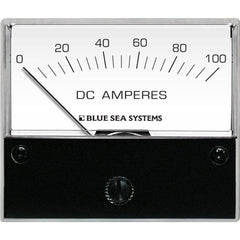 "Blue Sea 8017 DC Analog Ammeter - 2-3-4"" Face, 0-100 Amperes DC"