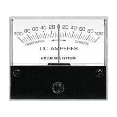 "Blue Sea 8253 DC Zero Center Analog Ammeter - 2-3-4"" Face, 100-0-100 Amperes DC"