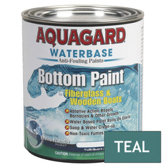 Aquagard Waterbased Anti-Fouling Bottom Paint - 1Qt - Teal
